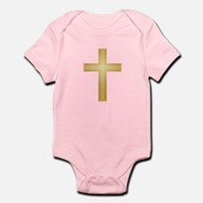Gold Cross/Christian Infant Bodysuit