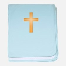 Gold Cross/Christian baby blanket