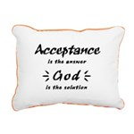 Acceptance and God Rectangular Canvas Pillow