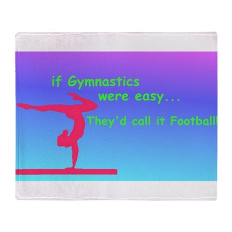 If Gymnastics were easy Throw Blanket
