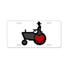 Love Farming Aluminum License Plate