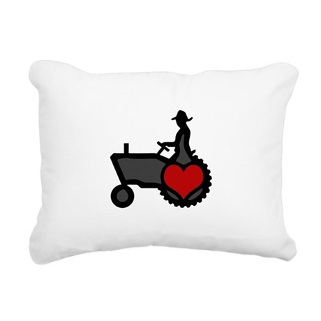Love Farming Rectangular Canvas Pillow