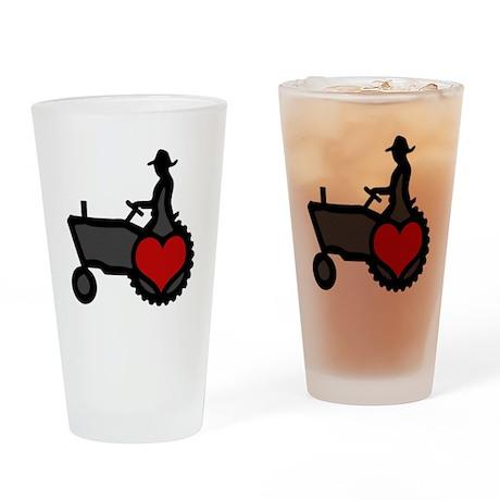 Love Farming Drinking Glass