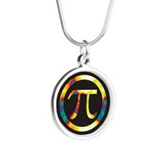 Groovy Pi Silver Round Necklace