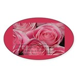 Shower of Roses, St. Therese Oval Sticker