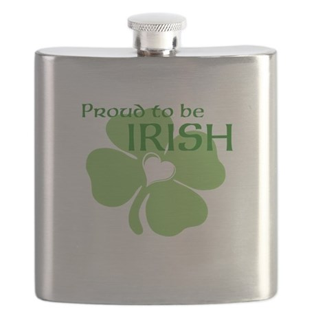 Proud to be Irish Flask