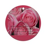 Shower of Roses, St. Therese Ornament (Round)