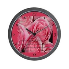Shower of Roses, St. Therese Wall Clock