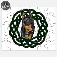 Celtic Doberman Portrait Puzzle