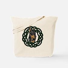 Celtic Doberman Portrait Tote Bag