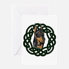 Celtic Doberman Portrait Greeting Card