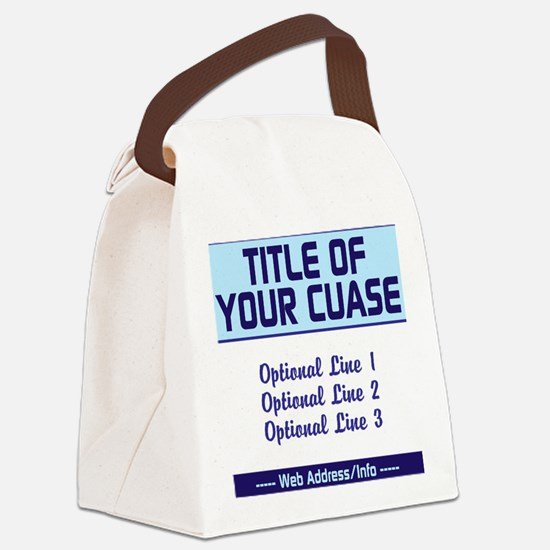 Fundraiser Event Canvas Lunch Bag