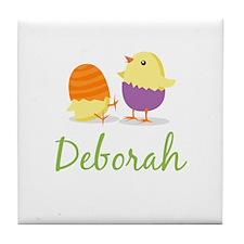 Easter Chick Deborah Tile Coaster