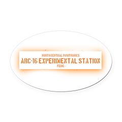 Limited Run #1 (Arc 16) Oval Car Magnet