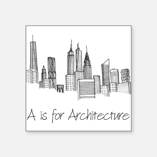 A is for Architecture Skyline Sticker