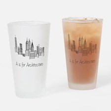 A is for Architecture Skyline Drinking Glass