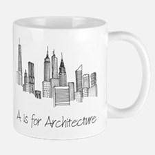 A is for Architecture Skyline Small Mugs