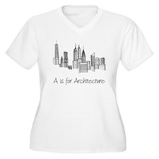 A is for Architecture Skyline Plus Size T-Shirt