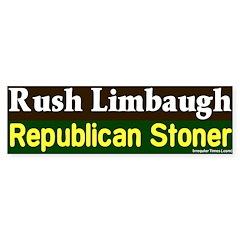 Stoner Rush Limbaugh Bumper Bumper Sticker