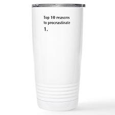 procrastinate.png Travel Mug