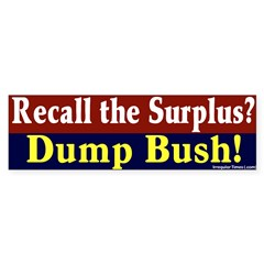 Recall the Surplus Bumper Bumper Sticker
