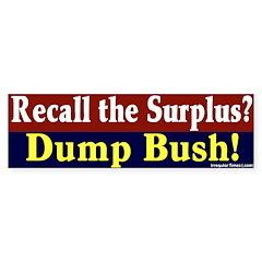 Recall the Surplus Bumper Bumper Sticker