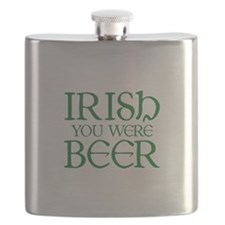 Irish You Were Beer Flask