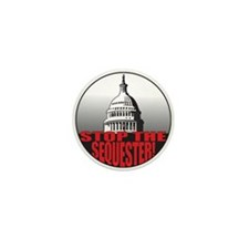 Stop the Sequester Mini Button (10 pack)