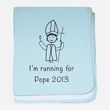 I'm running for Pope baby blanket