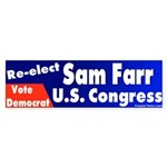 Re-elect Sam Farr Bumper Sticker
