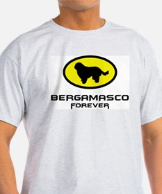 Bergamasco Sheepdog Ash Grey T-Shirt
