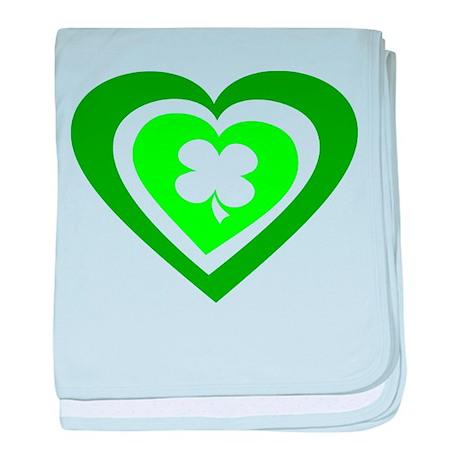Eire Heart Ireland St Patrick baby blanket