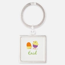 Easter Chick Enid Square Keychain