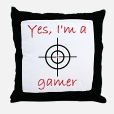 Yes, I'm a gamer! Throw Pillow