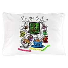 Shaking the Teacups Pillow Case