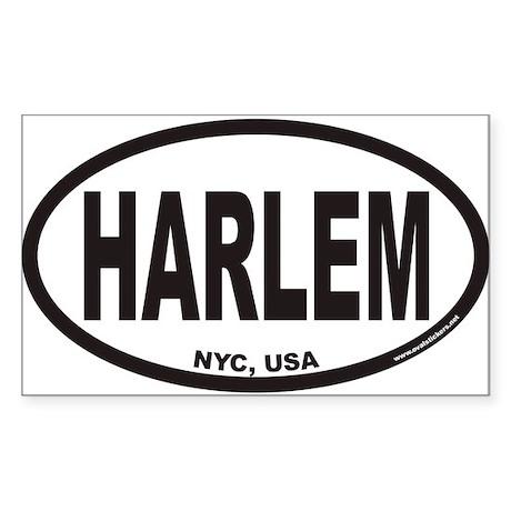HARLEM Euro Oval Sticker