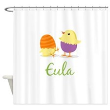 Easter Chick Eula Shower Curtain