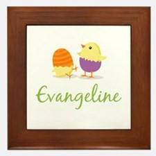 Easter Chick Evangeline Framed Tile