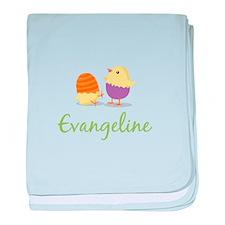 Easter Chick Evangeline baby blanket