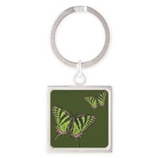 Celtic Swallowtail Square Keychain