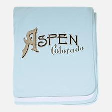 Aspen Colorado baby blanket