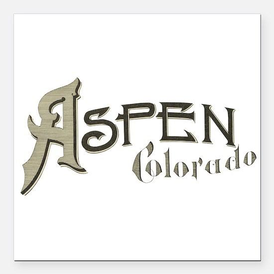 """Aspen Colorado Square Car Magnet 3"""" x 3"""""""