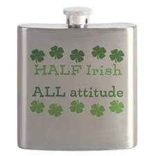 HALF irish, ALL attitude Flask