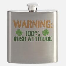Warning: 100% Irish Attitude Flask