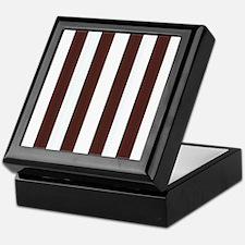 Dark brown and white stripes Keepsake Box