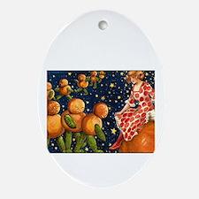 Cosmic Pumpkins Oval Ornament
