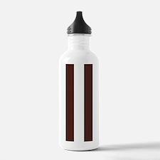 Dark brown and white stripes Water Bottle