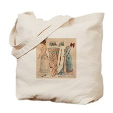 Victorian Paper Doll Tote Bag
