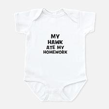My Hawk Ate My Homework Infant Bodysuit
