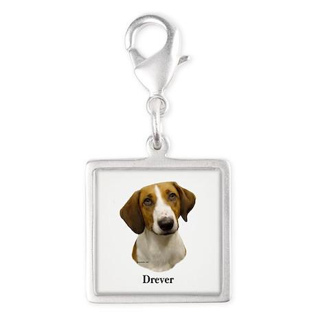Drever Silver Square Charm